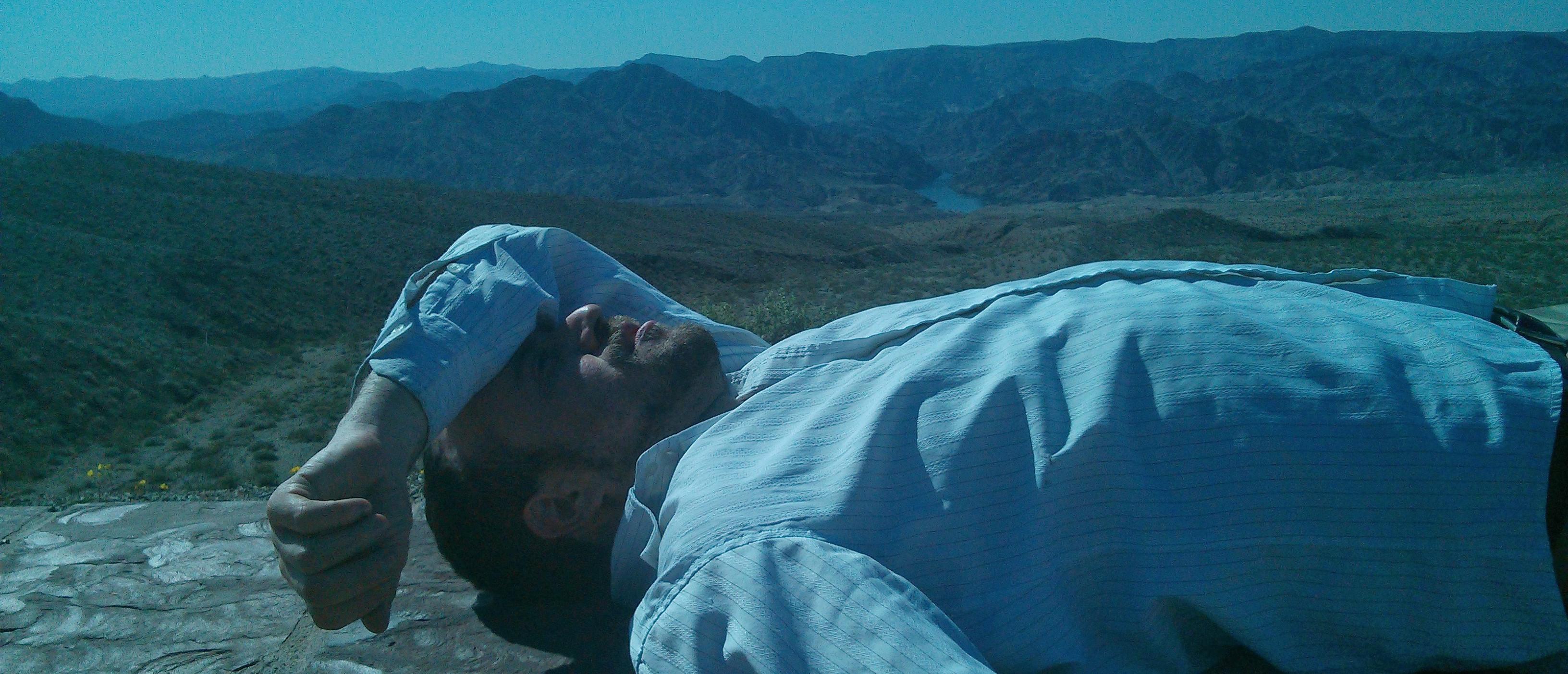 Resting after Las Vegas in the Arizona desert